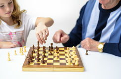 Spiel zum Schach Lizenzfreies Stockbild