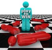 Spiel, zum von Person Last One Standing Winner-Spiel zu gewinnen Stockfotos