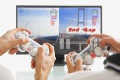 Spiel zusammen spielen Stockfotos