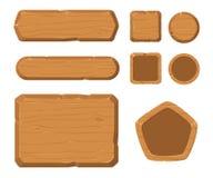 Spielanlagegüter, Holz GUI für Spiel Stockfoto