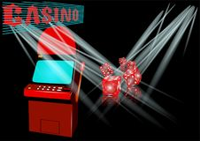 Spielautomat im Kasino Lizenzfreie Stockbilder