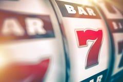 Spielautomat Lucky Game Stockbild