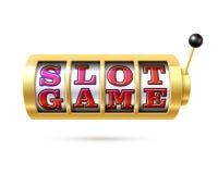 Spielautomat mit Text Automatenspiel Lizenzfreie Stockfotografie