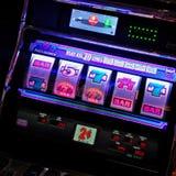 Spielautomat in Tampa, Florida stockbilder