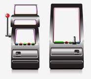 Spielautomat- und Säulengangspiel Stockfotografie