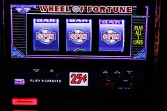 Spielautomatnahaufnahme in Las Vegas Lizenzfreie Stockfotografie