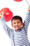 Spielballon des kleinen Jungen Lizenzfreies Stockfoto