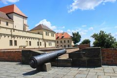 Spielberg castle in Brno, Czech republic Royalty Free Stock Images