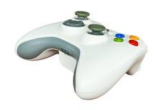Spielcontroller auf weißem Hintergrund Stockbilder