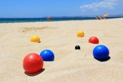 Spiele auf dem Strand Stockfoto