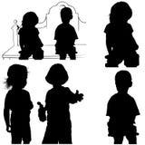 Spiele der Kinder Stockbilder