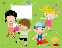 Spiele der Kinder Lizenzfreies Stockfoto