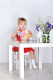 Spiele des kleinen Mädchens Lizenzfreies Stockfoto