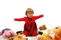 Spiele des kleinen Mädchens Lizenzfreie Stockfotos