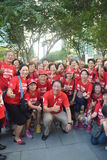 Spiele 2015 DPM Teo Chee Hean Group Foto Crowds Para See Lizenzfreie Stockbilder