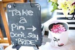 Spiele an einer Brautdusche Stockbilder