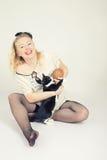 Spiele mit Katze Lizenzfreie Stockfotografie