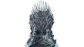 Spiele von Thronen HBO autorisierten Replik des Eisen-Thrones lizenzfreie stockfotografie