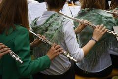 Spielen der Flöte Lizenzfreies Stockbild