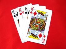Spielen der Karte-Könige lizenzfreie stockfotos