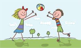 Spielen der Kinder lizenzfreie stockbilder