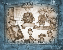 Spielen von Piraten Lizenzfreie Stockfotos
