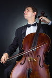 Spielen des Cellos Stockfotos