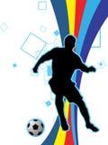 Spielen des Fußballs Lizenzfreies Stockbild