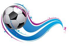 Spielen des Fußballs stock abbildung