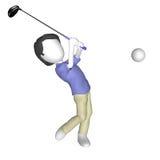 Spielen des Golfs Stockfotos