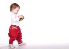 Spielen des kleinen Mädchens Lizenzfreies Stockbild