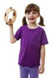 Spielen des kleinen Mädchens stockfoto