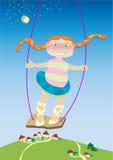 Spielen des Mädchens. Lizenzfreies Stockfoto