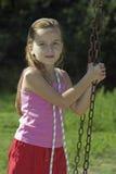 Spielen des Mädchens Stockfoto