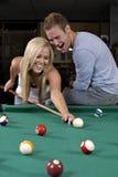 Spielen des Pools Stockbilder