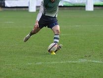 Spielen des Rugbys Stockfotografie