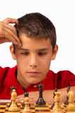 Spielen des Schachs Lizenzfreies Stockbild