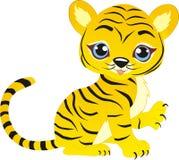 Spielen des Tigerjungen stockfoto