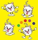 Spielen des Tigers Lizenzfreie Stockfotos