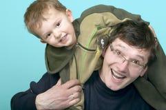Spielen des Vaters und des Sohns Lizenzfreies Stockbild