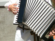 Spielen eines Akkordeons Stockbilder