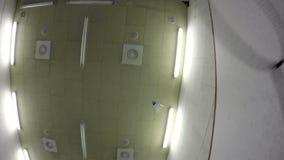 Spielen eines Badminton stock video footage