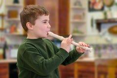 Spielen eines Instrumentes Stockbilder