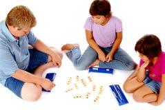Spielen eines Zahl-Spiels Stockbilder