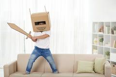 Spielen im Roboter Stockbilder