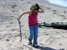 Spielen im Sand Lizenzfreies Stockbild