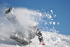 Spielen im Schnee Stockbild