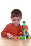 Spielen mit Blöcken Lizenzfreies Stockfoto