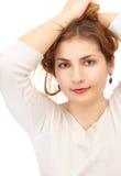 Spielen mit dem Haar Lizenzfreie Stockfotos