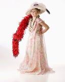 Spielen mit Großmüttern Hut und Kleidung stockbilder